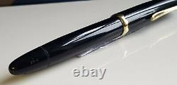 Mont Blanc Fountain Pen 042 MonteRosa Piston Filler Functional Black Gold VG MR1
