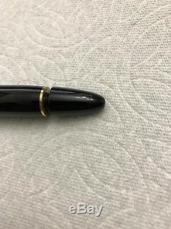 Mont Blanc Meisterstuck 149 Black & Gold Fountain Pen 14K F Nib w Original Case