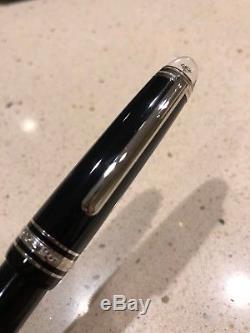 Mont Blanc Meisterstück Diamond Classique fountain pen with Siena Leather Pouch