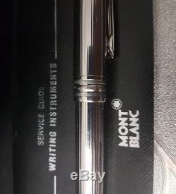 Mont Blanc Meisterstuck Silver Ballpoint Pen Boxed