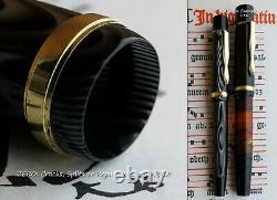 Montblanc 122PL Celluloid Fountain Pen 1936. 14C 220 O Flex Nib. N. O. S. Mint
