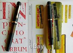 Montblanc 134 Celluloid Fountain Pen. 1939. 14C M Flex Nib. Boxed. ULTRA RARE