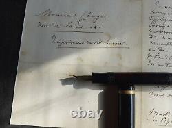 Montblanc 138 flex nib, medium stub
