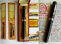 Montblanc 139 L. 1st issue. 14C 250 EF Flex Nib. Boxed. ULTRA RARE! Serviced
