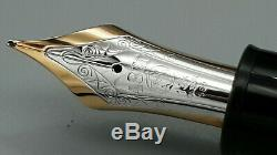 Montblanc 149 Fountain Pen, 1980/90s, 14k Gold Nib, Mint Condition