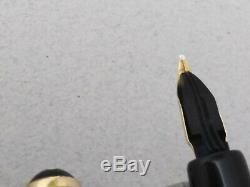 Montblanc 254 Fountain Pen 14k Gold Flex Ef Nib Vintage Rare