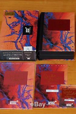 Montblanc Agatha Christie Vermeil 4810 Mint, New, Complete #2452/4810 Fine Nib