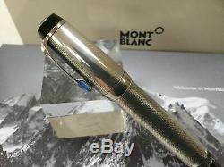 Montblanc Boheme 925 sterling silver barley pattern fountain pen 18K OBB nib