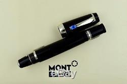 Montblanc Boheme Boheme Bleu Sapphire Stone & Platinum Fountain Pen Medium M Nib