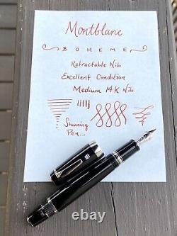 Montblanc Boheme Fountain Pen, Retractable Nib, 14k 4810 585 Medium Nib, Nice