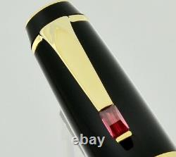 Montblanc Bohème Fountain Pen retractable 4810 14kt gold nib with Ruby Gemstone