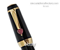 Montblanc Boheme Ruby Heart Je T'aime Fountain Pen 2002 Gold Heart Hole Nib