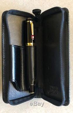 Montblanc Boheme retractable fountain pen (withruby &14K nib) with leather pouch