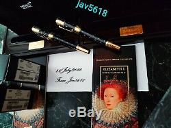 Montblanc Elizabeth I Patron Art Le 4810 F. Pen Ultra Rare Set New, Gold