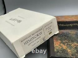 Montblanc Ernest HEMINGWAY Fountain Pen 18K Med nib Year 1992 NEW Complete