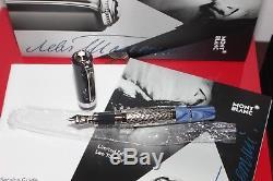 Montblanc Leo Tolstoy Fountain Pen Writer Series 18K Medium nib Year 2015 NEW