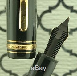 Montblanc Masterpiece 149 Fountain Pen 1972-75 14C Medium Nib Fills Boxed Ex ++