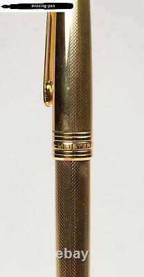 Montblanc Meisterstück 144 Fountain Pen Solitaire 22 K Gold Plated Guilloche