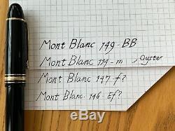 Montblanc Meisterstück 146 Fountain Pen Black/Gold Extra Fine 1991