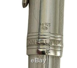 Montblanc Meisterstuck 146 Silver Body Plat P Clip Fountain Pen M 2001