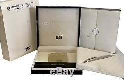 Montblanc Meisterstuck 146 Silver Platinum P Clip Diamond Fountain Pen F