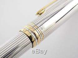 Montblanc Meisterstück 146 Solitaire Fountain Pen-Sterling Silver Guilloche