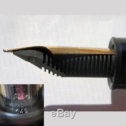 Montblanc Meisterstuck 149 Solid 18k Gold 750 Pinstripe Fountain Pen 1990