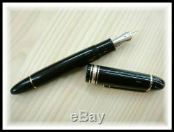 Montblanc Meisterstuck 149 fountain pen nib F-M ebonite core 1980s Vintage