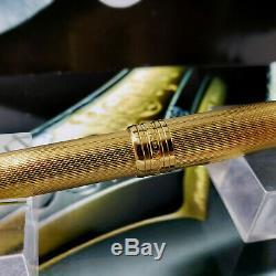 Montblanc Meisterstuck 164 Sv Gold Solitaire Vermeil Ballpoint Pen 925