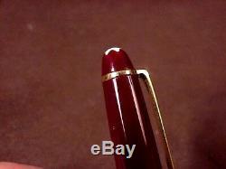 Montblanc Meisterstuck Classique Bordeaux Fountain Pen, Gft, Cf/converter