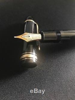 Montblanc Meisterstuck No. 149 Black Fountain Pen 4810 14c Gold Nib