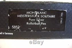 Montblanc Meisterstuck R. B. Solitaire PURE SILVER