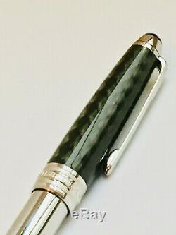 Montblanc Meisterstuck Solitaire 145 Carbon Steel Fountain Pen 18K nib