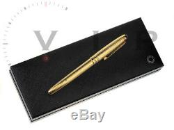 Montblanc Meisterstück Solitaire 18k Solid Gold Füller Fountain Pen Stylo Plume