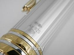 Montblanc Meisterstuck Solitaire Le Grand Sterling Silver 925 Fountain Pen B
