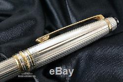 Montblanc Meisterstuck Solitaire Pinstripe Sterling Silver Ballpoint Pen 146