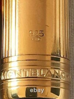 Montblanc Meisterstuck Solitaire Vermeil LeGrand 146 Pinstripe 18k M Nib