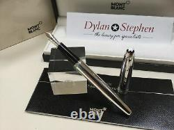 Montblanc Meisterstuck solitaire carbon fiber and silver fountain pen