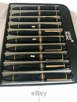 Montblanc Miesterstuck set of 10 Pens, (5x149, 4x146, 1x162) Vintage