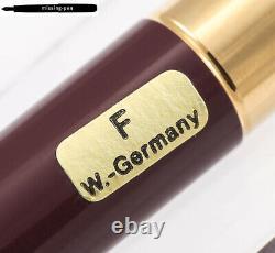 Montblanc Noblesse Fountain Pen Bordaux Red-Gold 18K F-nib / W. Germany (18150)
