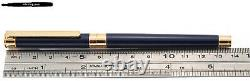 Montblanc Noblesse Fountain Pen Midnight Blue-Gold 18K B-nib / W-Germany (18140)