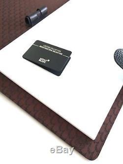 Montblanc Notepad A4 Large Leather Meisterstuck mocha-crocodile 6CC Pen Holder