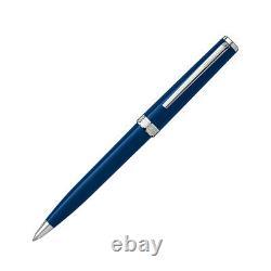 Montblanc PIX Blue Resin Writing Silver Platinum Ballpoint Pen 114810