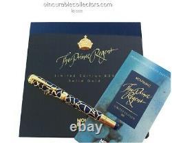 Montblanc Prince Regent 888 Le Fountain Pen 18 K Gold Ruby Diamonds Crown 1995