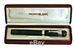 Montblanc Rouge Et Noir Bhr Ef Eyedropper Oversize Safety Silver Clip Box 1918