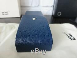 Montblanc Sartorial 2 Pen Leather Pouch Case Hard Shell Indigo Blue 115414 NIB