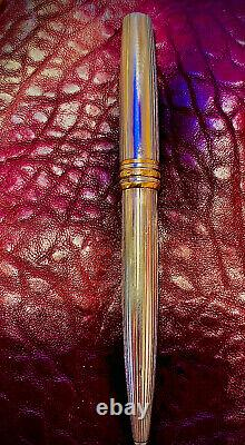 Montblanc Solitaire 164S Sterling Silver Pinstripe & Gold Ballpoint Pen