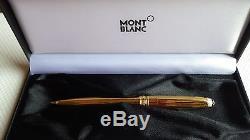 Montblanc Solitaire Vermeil Pinstripe Gold Ballpoint Pen In Box Rare 164vp