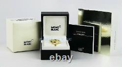 Montblanc Star Yellow Gold Diamond Ring 101043 Size 52, 6 Us New Box Germany