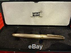 Montblanc Sterling Silver Meisterstuck Solitaire Fountain Pen